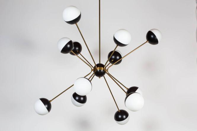Mid Century Modern Rewire Custom Orb Chandelier For