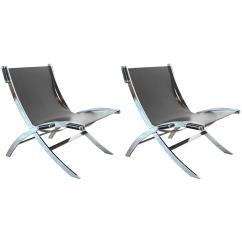Steel Lounge Chair Louis Xv Armchair Pair Of Chrome Plated Chairs For Sale At 1stdibs