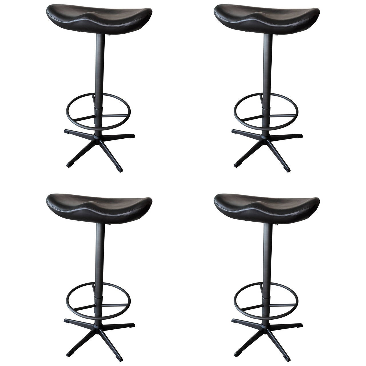 horse saddle seat chair yankees folding set of four swivel bar stools at 1stdibs