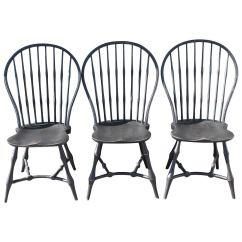 Diy Painted Windsor Chairs Folding Beach Costco Set Of Three 19th Century Black New England