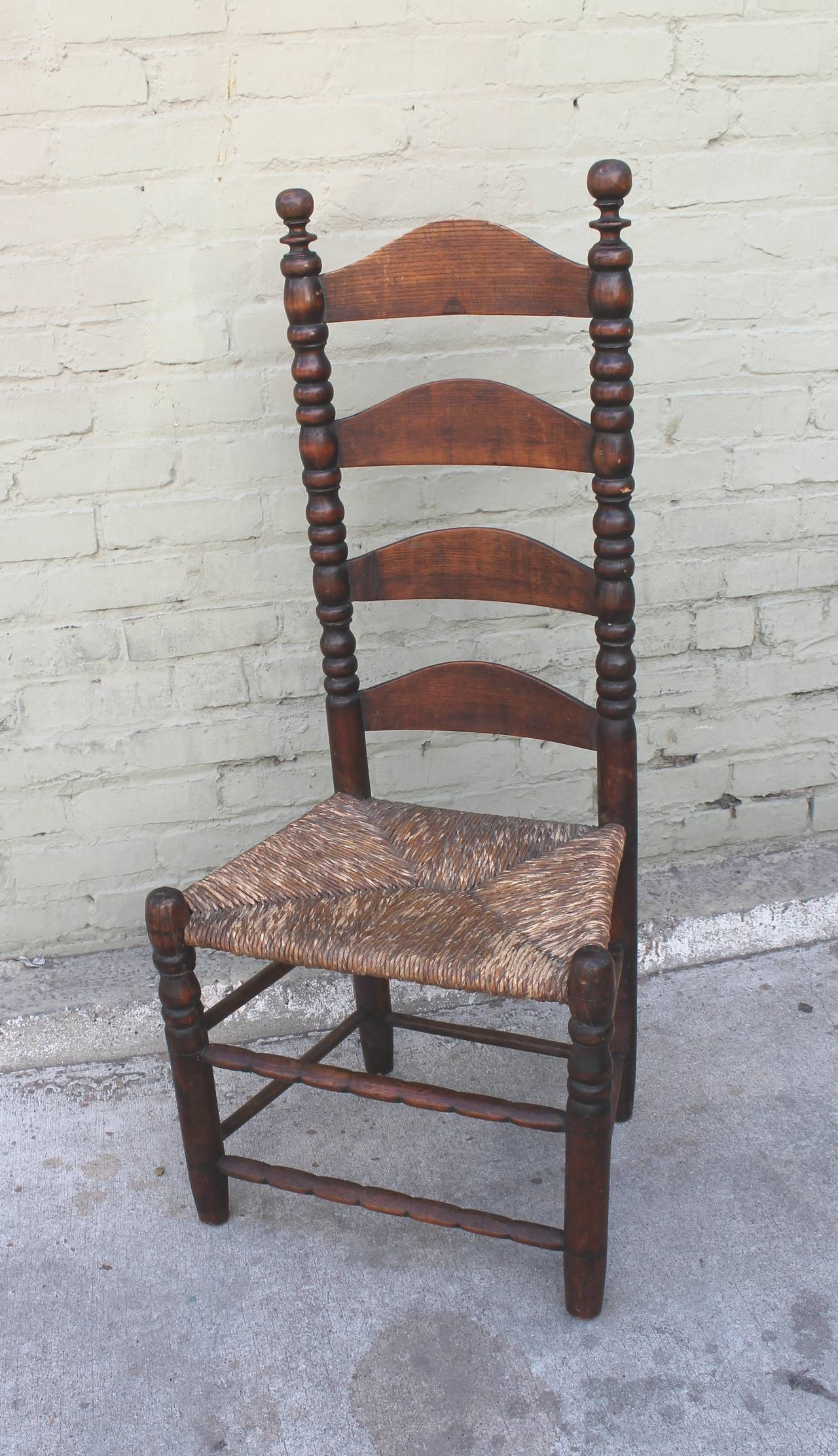 wicker ladder back chairs hanging chair the range early 18th century new england side for