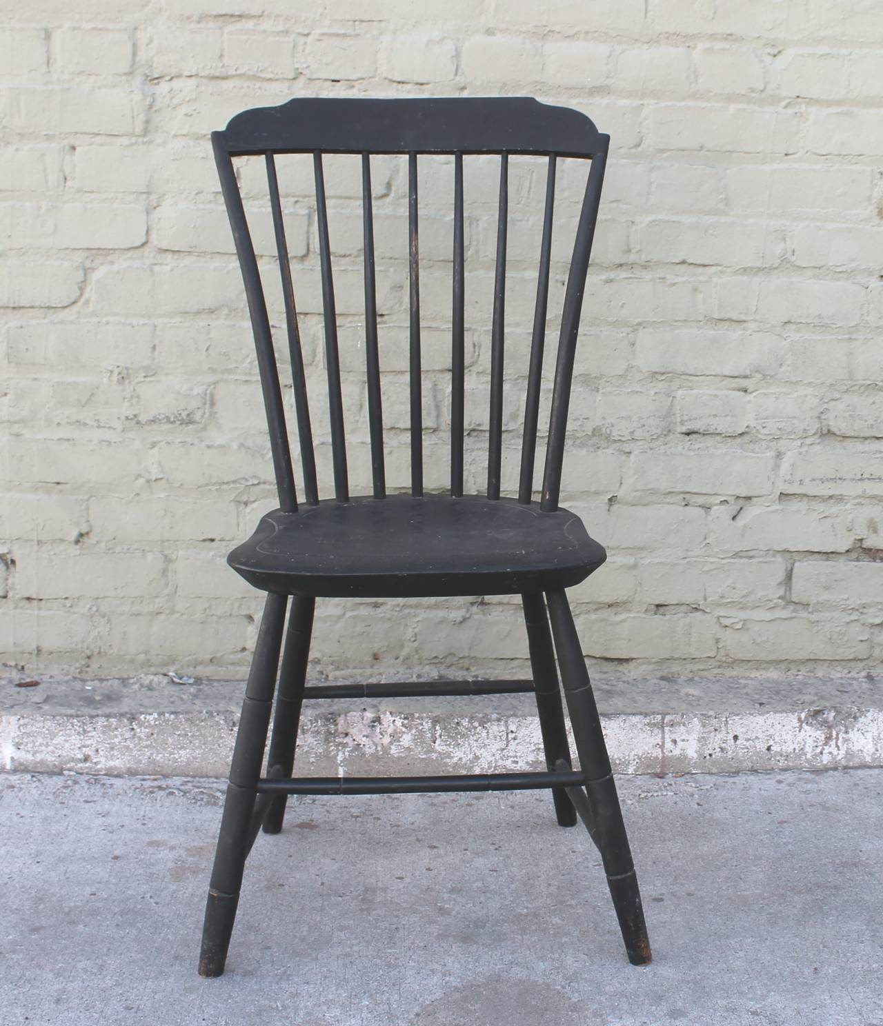 Black Windsor Chair Original Black Painted Step Down New England Windsor Chair