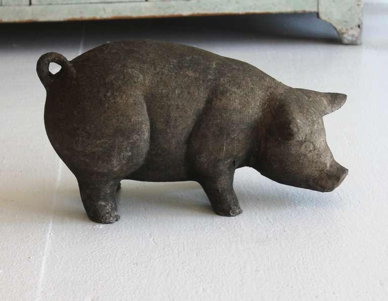 Scupltural Paper Mache Over Pottery Folk Art Pig At 1stdibs