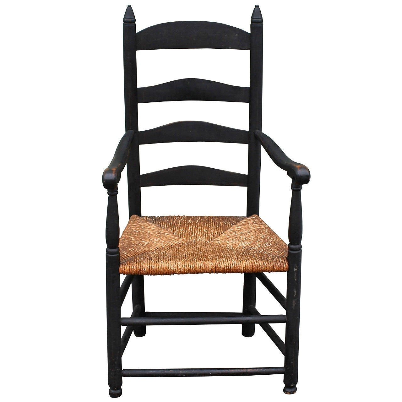 ladder back chair pb desk chairs early 19th century original painted black