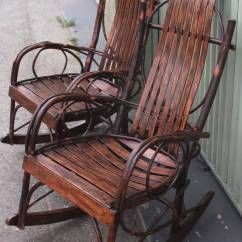 Bent Wood Rocking Chair Costco Swivel Pair Of Matching Amish Bentwood Chairs At 1stdibs