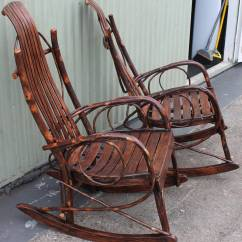 Bent Wood Rocking Chair Easy Lift Pair Of Matching Amish Bentwood Chairs At 1stdibs