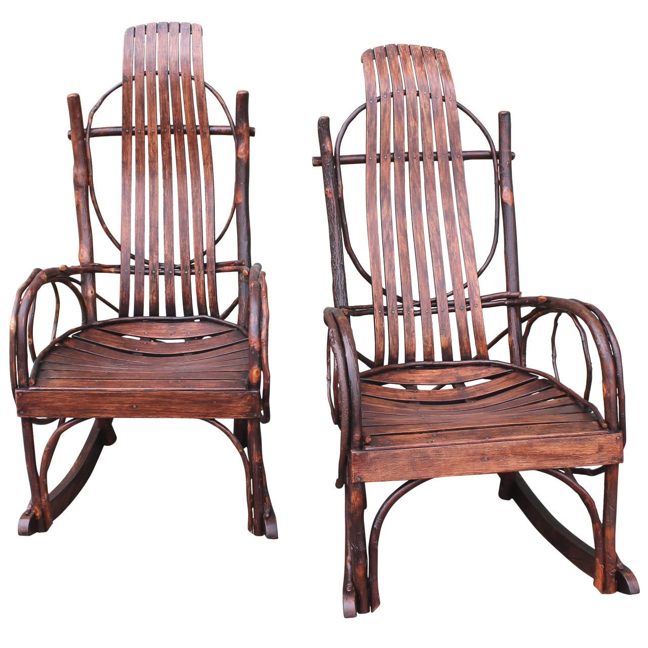 handmade rocking chairs algomatm c frame hanging patio chair stand pair of matching amish bentwood at 1stdibs