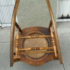 Mid Century Modern Cane Barrel Chairs Baby To Help Sit Up 19thc Pine And Oak Victorian Rocking Chair W/ Seat At 1stdibs