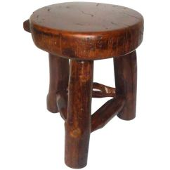 Hickory Chair Vanity Stool Lazy Boy And A Half Rustic Plank Seat Milk At 1stdibs