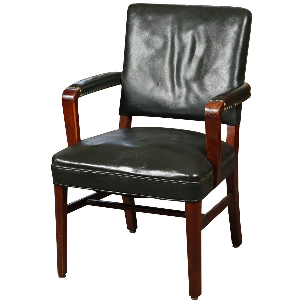 leather desk chairs exterior rocking chair at 1stdibs