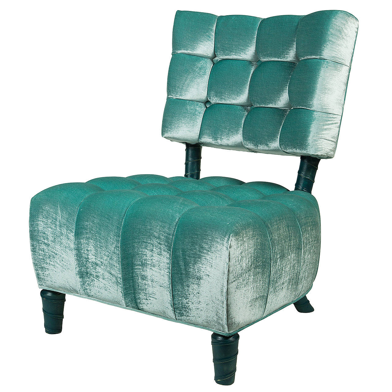 Tufted Slipper Chair Biscuit Tufted Slipper Chair By William Haines At 1stdibs