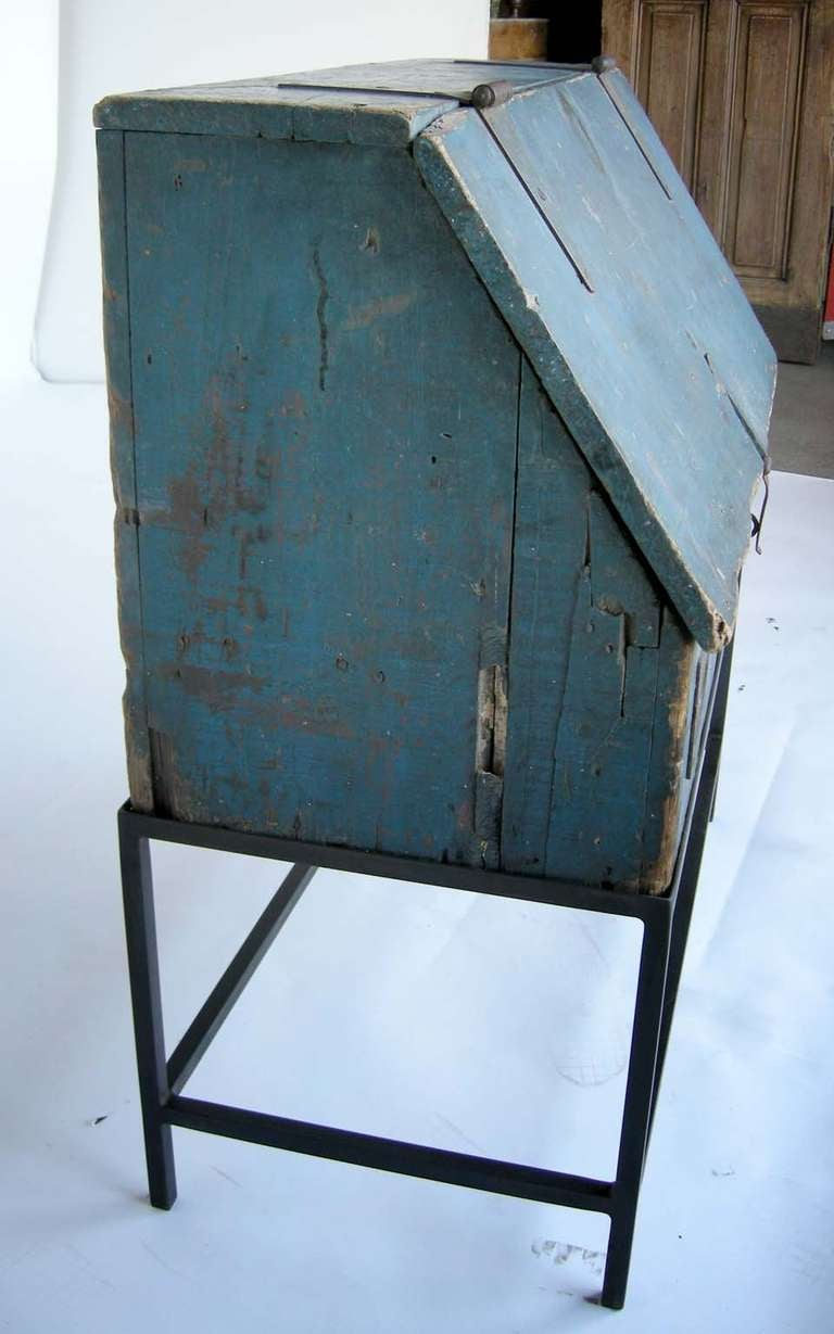 kitchen base cabinet dimensions the game primitive painted tool chest at 1stdibs