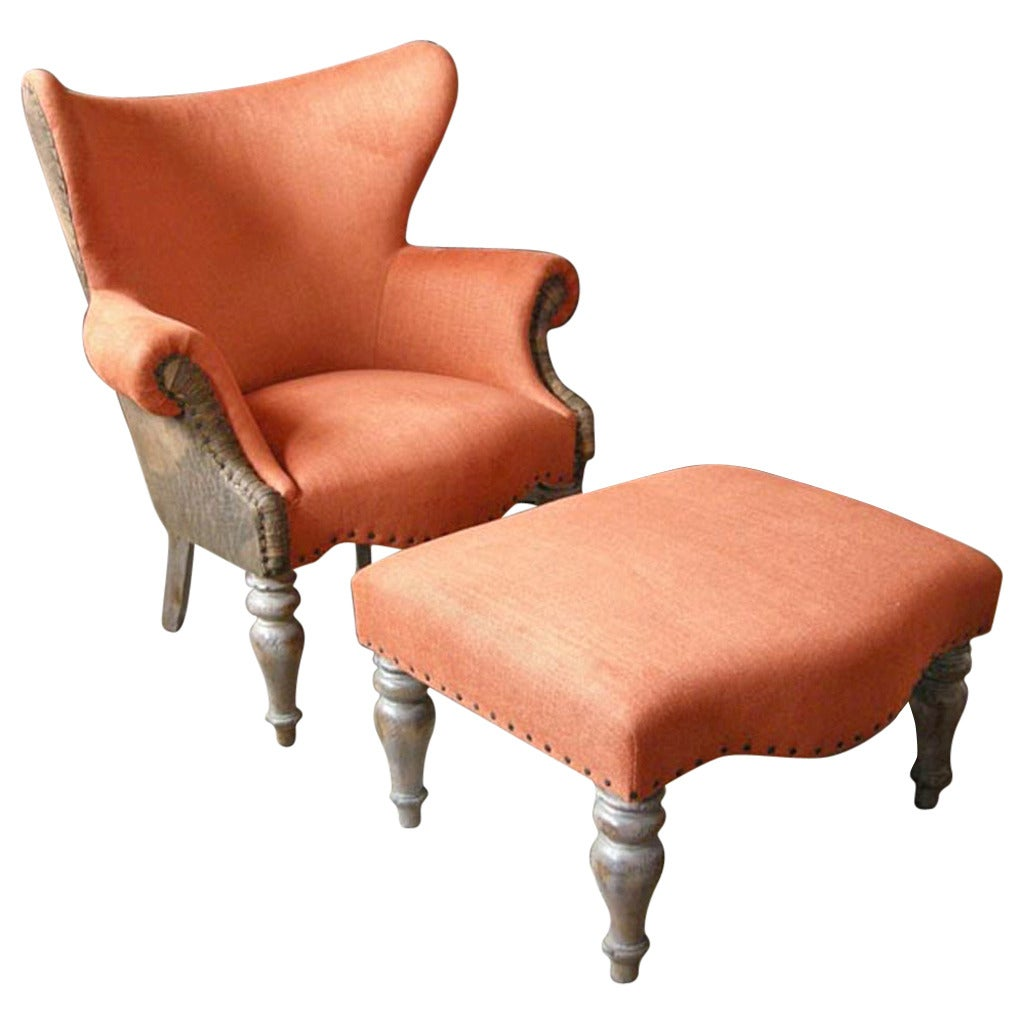 leather club chairs for sale folding chair giant lamb 39s and ottoman at 1stdibs