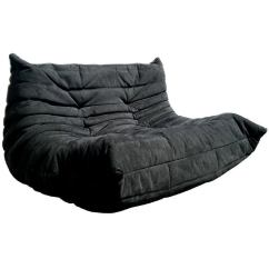 Velvet Sectional Sofa Sam S Club Leather Ligne Roset Togo In Black Fabric At 1stdibs