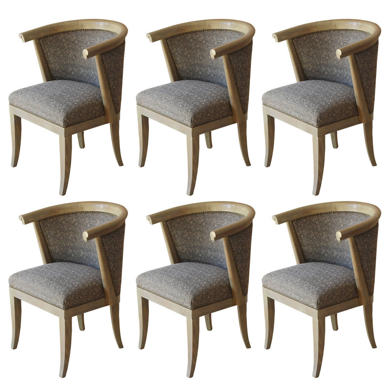 set of six dining chairs for sale chair covers and tablecloths rentals romweber at 1stdibs