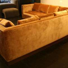 Gold Sectional Sofa Ashley Furniture And Loveseat Sets Custom Silk Velvet Usa 2000 At 1stdibs American For Sale