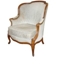 A Louis XV Beechwood Bergere, attributed to Louis Delanois ...
