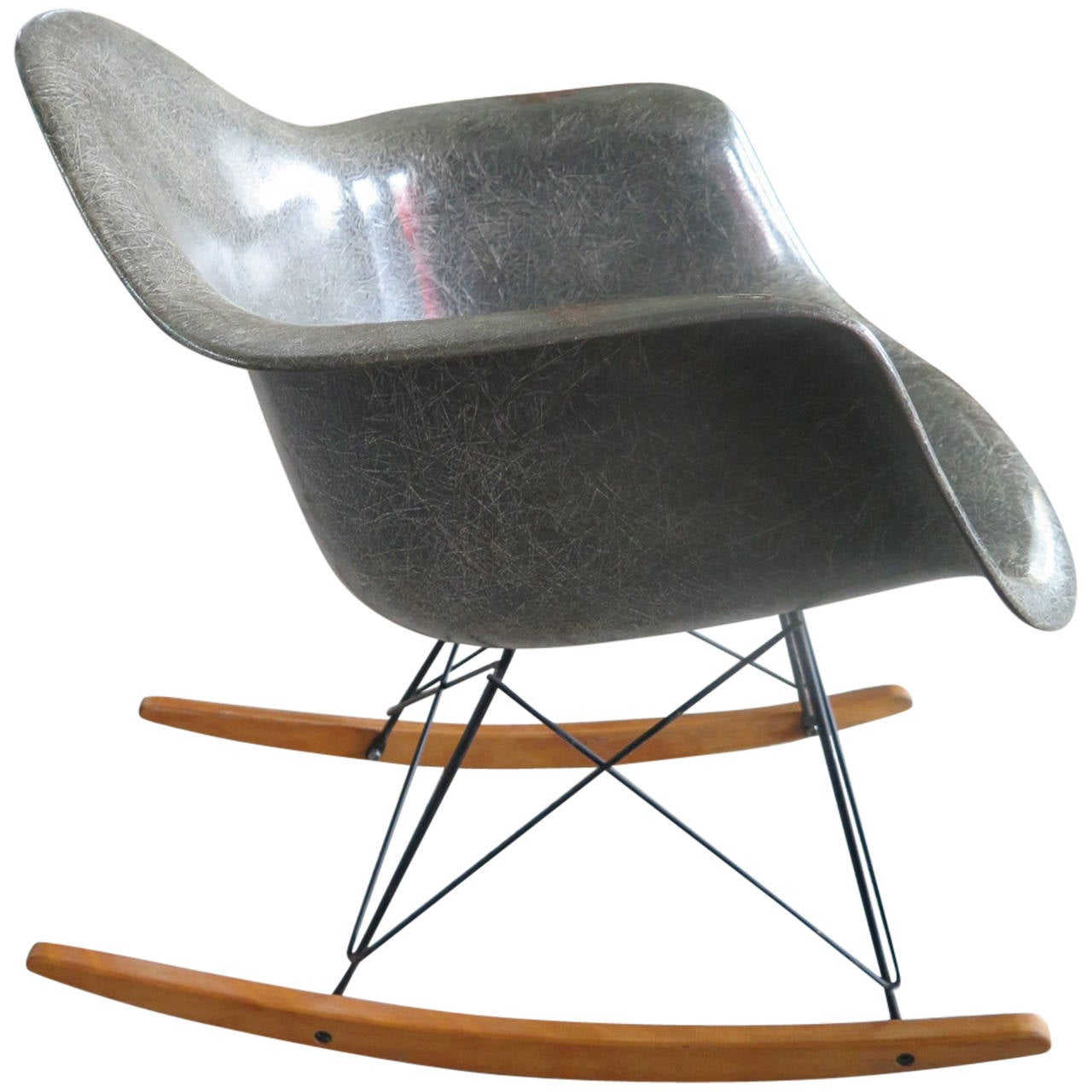 eames rocking chair silver metal dining chairs charles quotrar quot early production zenith