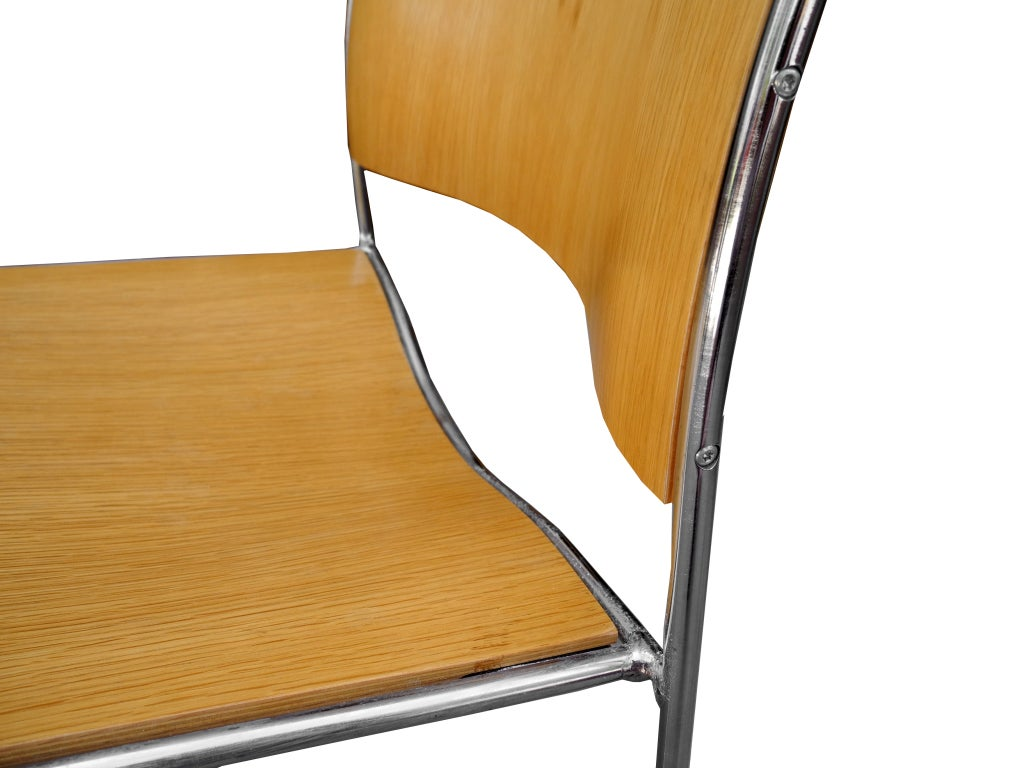 david rowland metal chair retro dining chairs ireland set of eight by for gf at 1stdibs