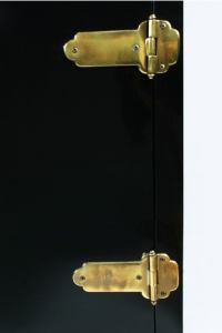 Black Lacquer and Brass Chinoiserie Cabinet by Mastercraft ...