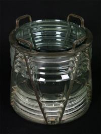 Fresnel Lens Glass and Bronze Occasional Table at 1stdibs