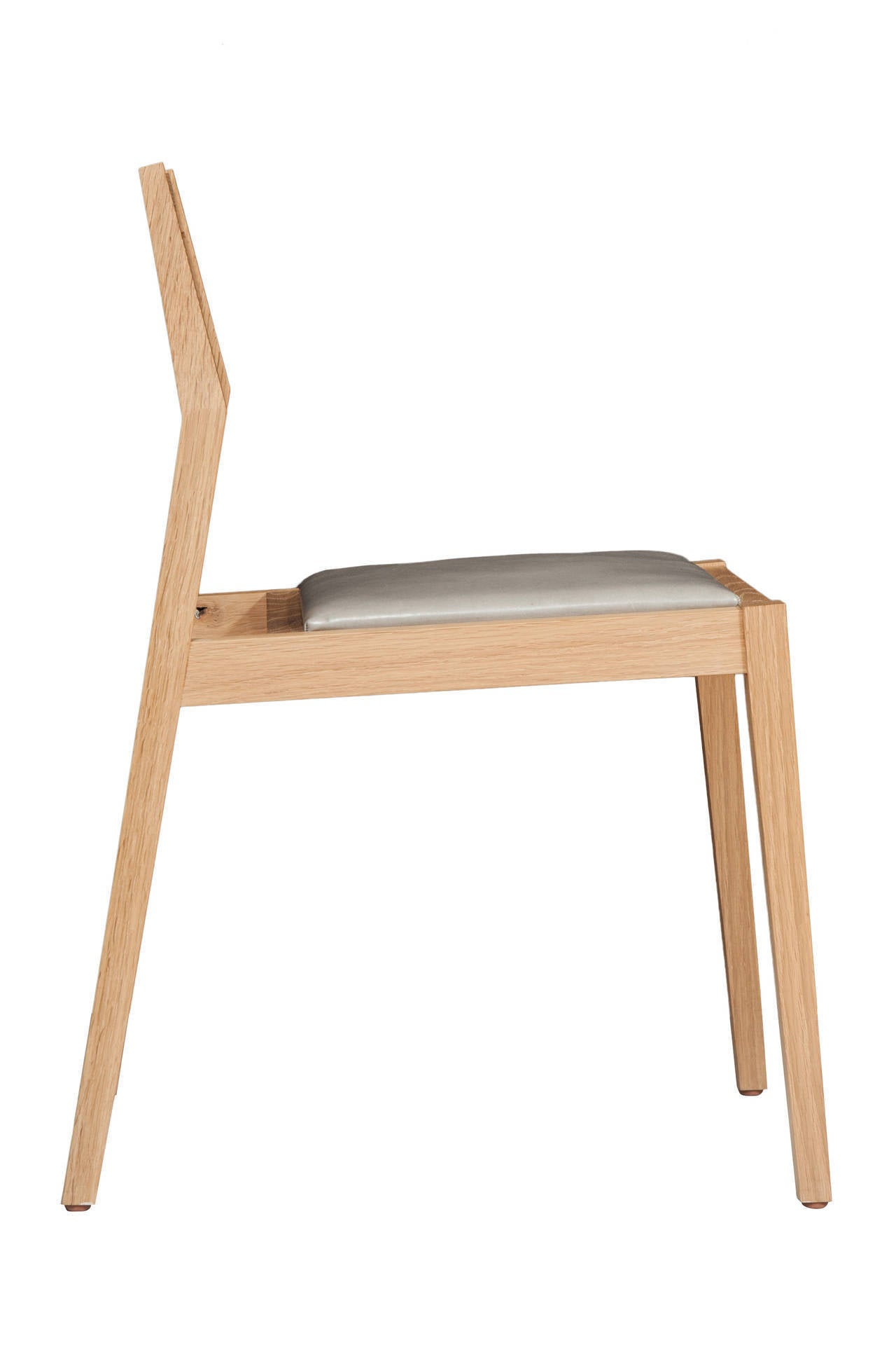 oak and white dining chairs swing chair stand stillmade solid with leather seat