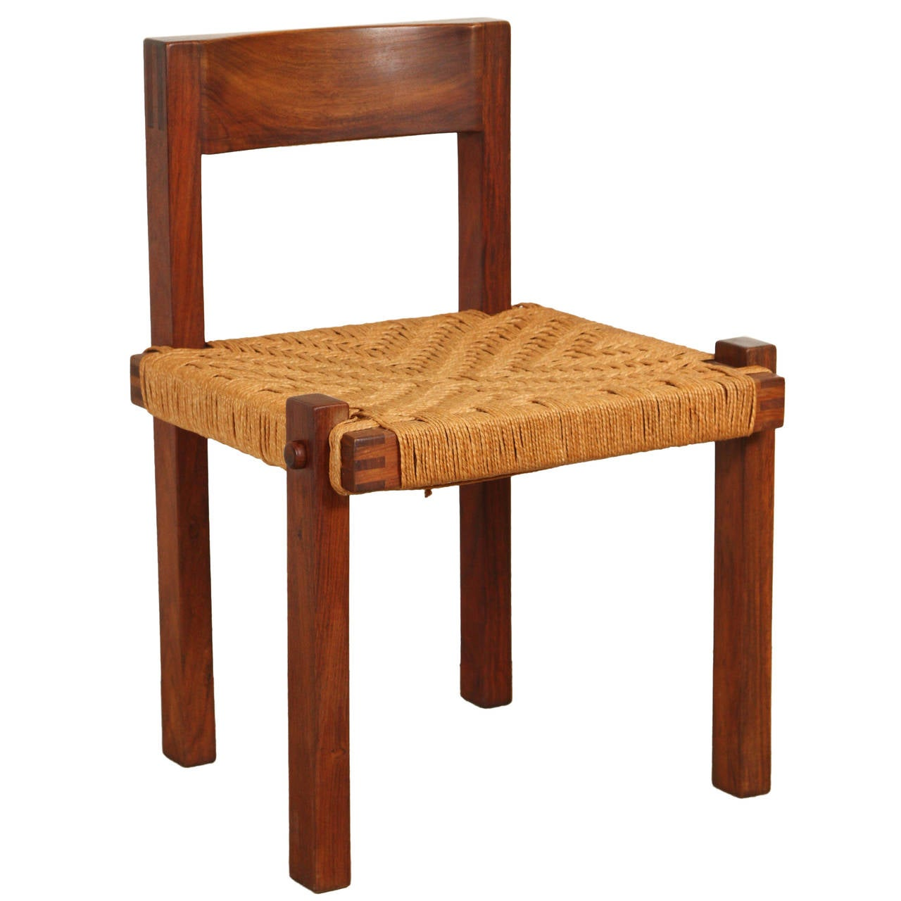 how to rush a chair korum fishing spare parts solid teak italian with seat at 1stdibs