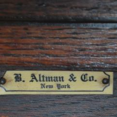 Regency Mahogany Sofa Table Martin Renaissance Style Console / Folding From B Altman ...