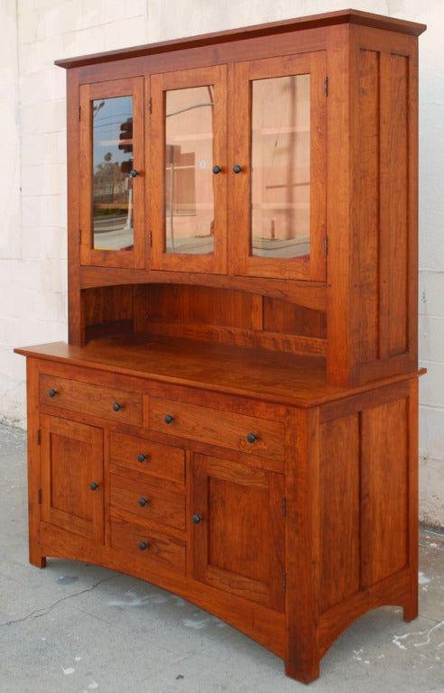 Craftsman Style Hutch in Cherrywood For Sale at 1stdibs