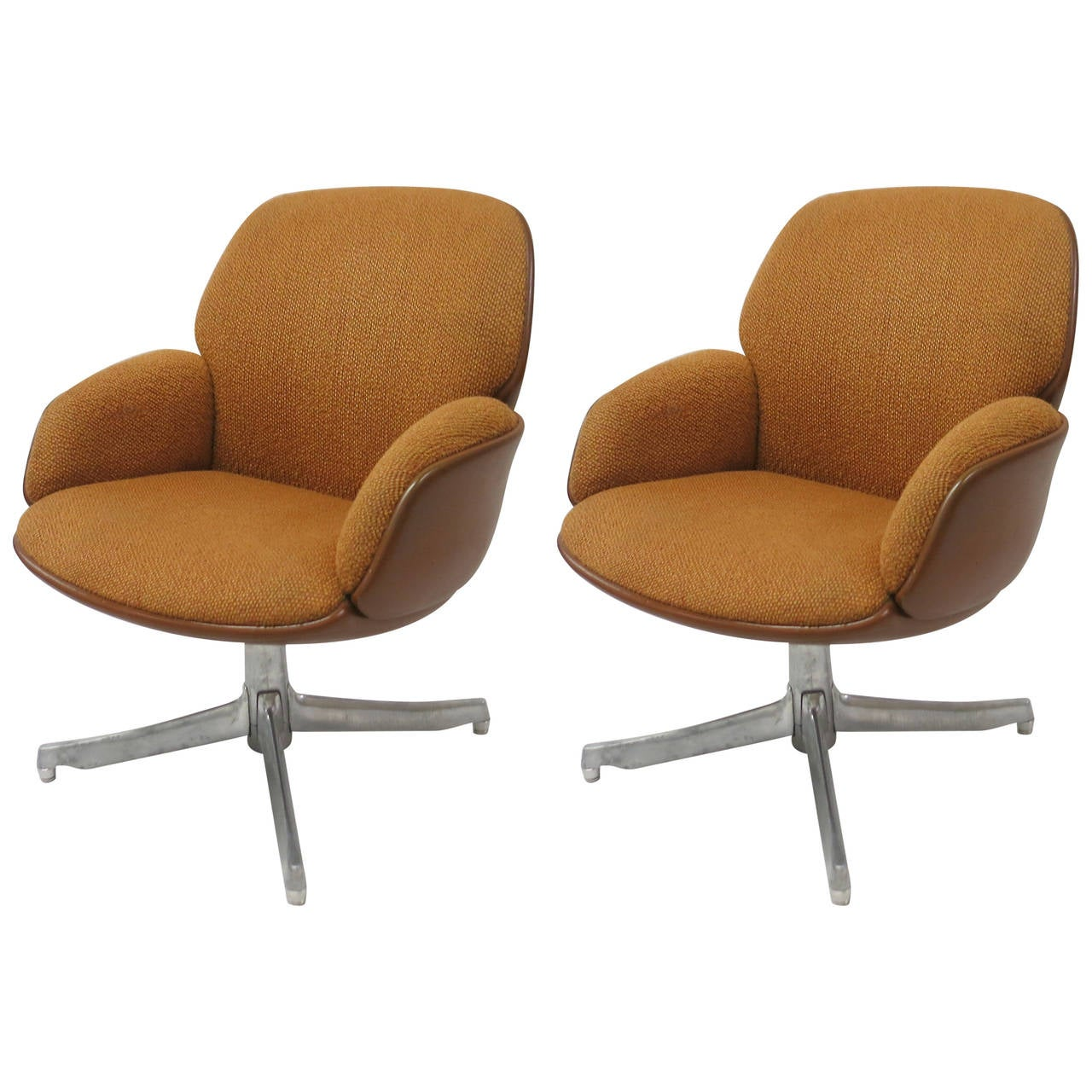 steelcase sofa platner extra large sectional pair of chairs by warren for usa circa