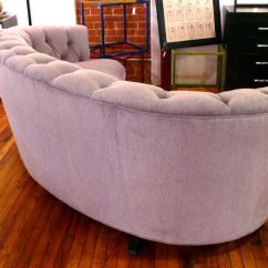 Tufted Button Sofa Designer Recliner Sofas Sumptuous Curved Back At 1stdibs