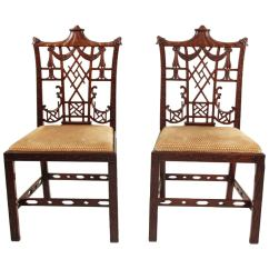 Chinese Chippendale Chairs Atlanta Chair Massage Pair Of At 1stdibs