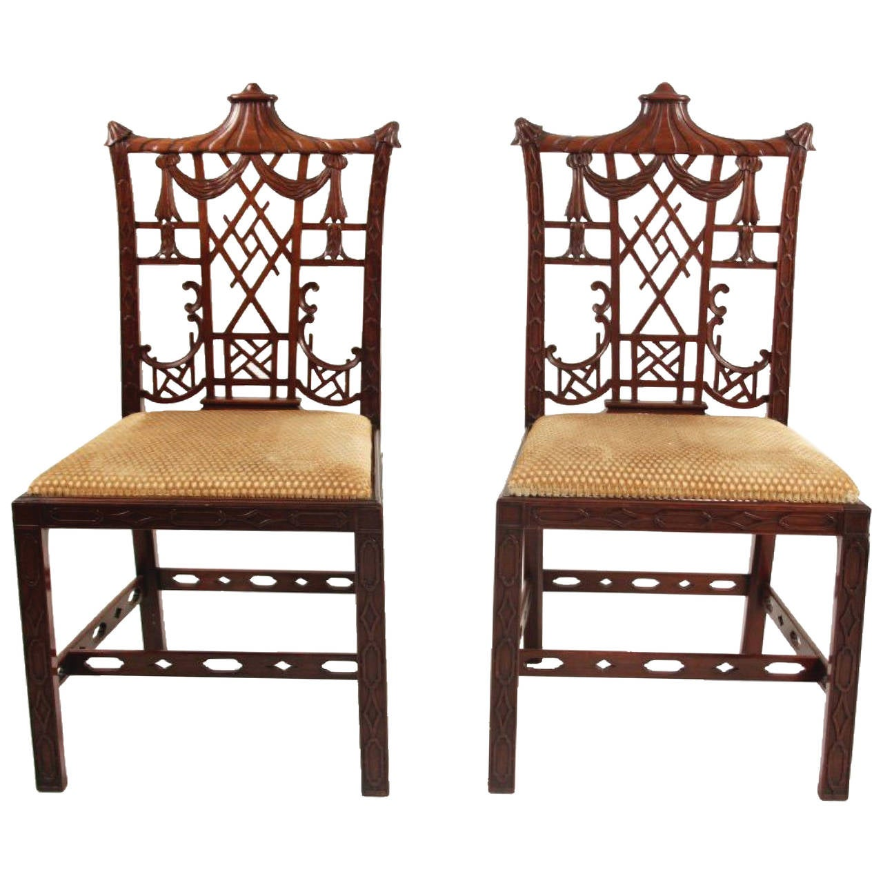 Chinese Chair Pair Of Chinese Chippendale Chairs At 1stdibs