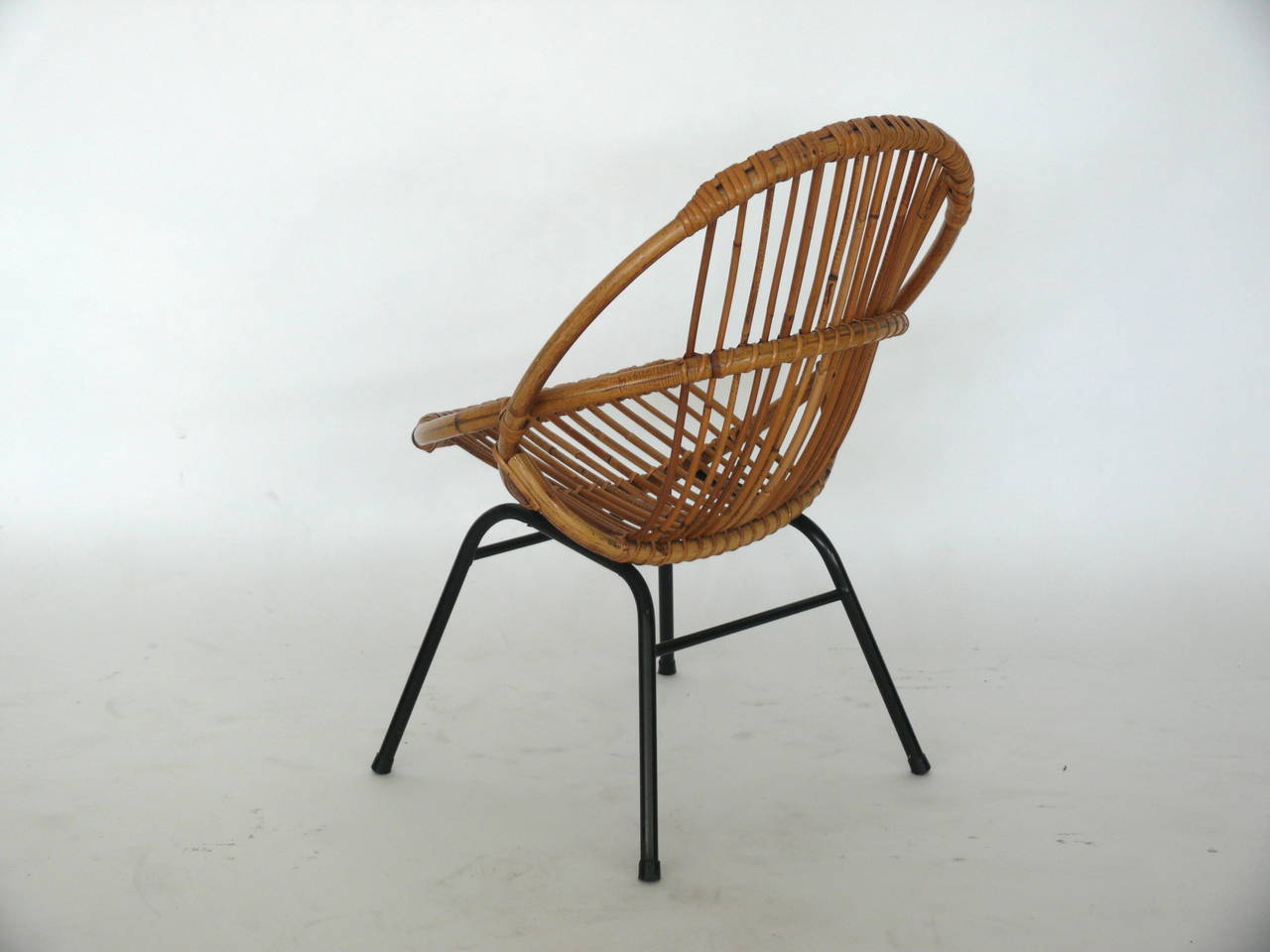 French Rattan Bistro Chairs French Rattan And Iron Chairs At 1stdibs