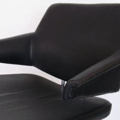 Black Leather Desk Chairs Antique Wingback Chair By Duba At 1stdibs Danish For Sale