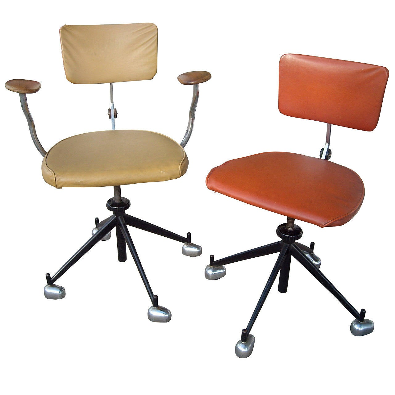 adjustable desk chairs tan leather chair with ottoman jorgen rasmussen two industrial modern kevi office or for sale