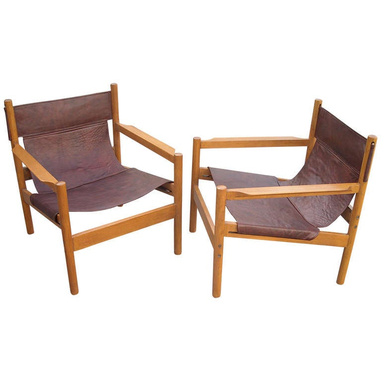 sling chairs for sale holiday chair covers patterns pair of michel arnoult leather safari brazil