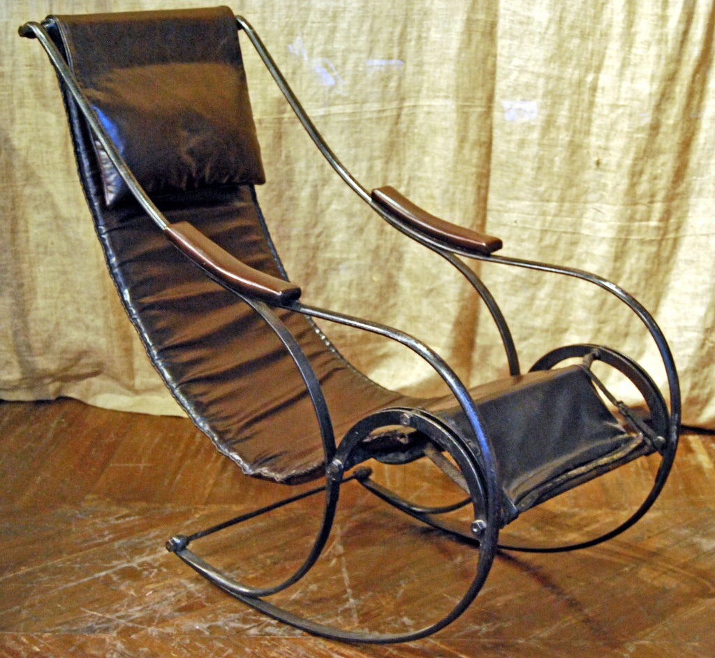 iron rocking chair used dining room table and chairs for sale antique winfield at 1stdibs