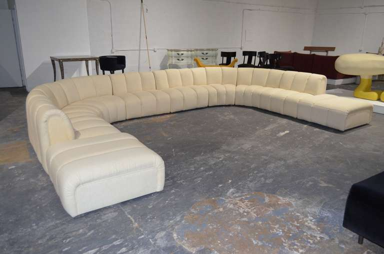 brocade sofa fabric leather sofas on legs wonderful large sectional in the manner of desede at ...