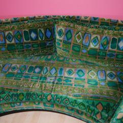 De Sede Sofa Vintage Reclining Slipcover Pattern Milo Baughman With Jack Lenor Larsen Fabric At 1stdibs