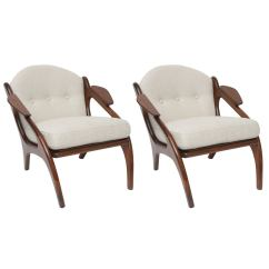 Adrian Pearsall Lounge Chair Santa Claus Pair Of Chairs At 1stdibs