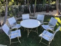Amazing Vintage 13-piece Faux Bamboo Style Garden Set