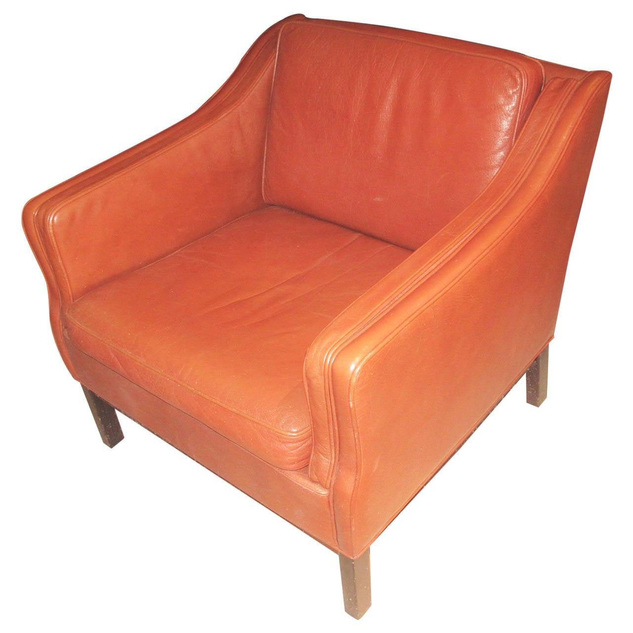 oversized upholstered chair lycra covers for hire large scale danish leather club at 1stdibs