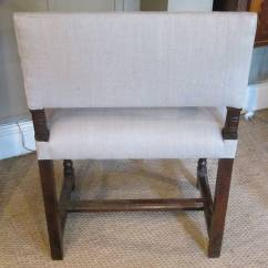 Spool Chair For Sale Parsons Dining 18th Century Pair Of His And Hers Upholstered Side