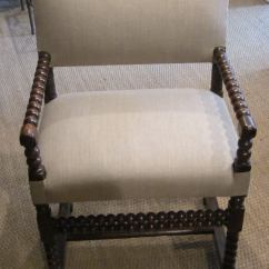 Spool Chair For Sale Patio Club 18th Century Pair Of His And Hers Upholstered Side