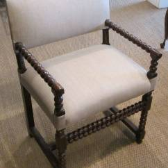 Spool Chair For Sale Gym Twister 18th Century Pair Of His And Hers Upholstered Side