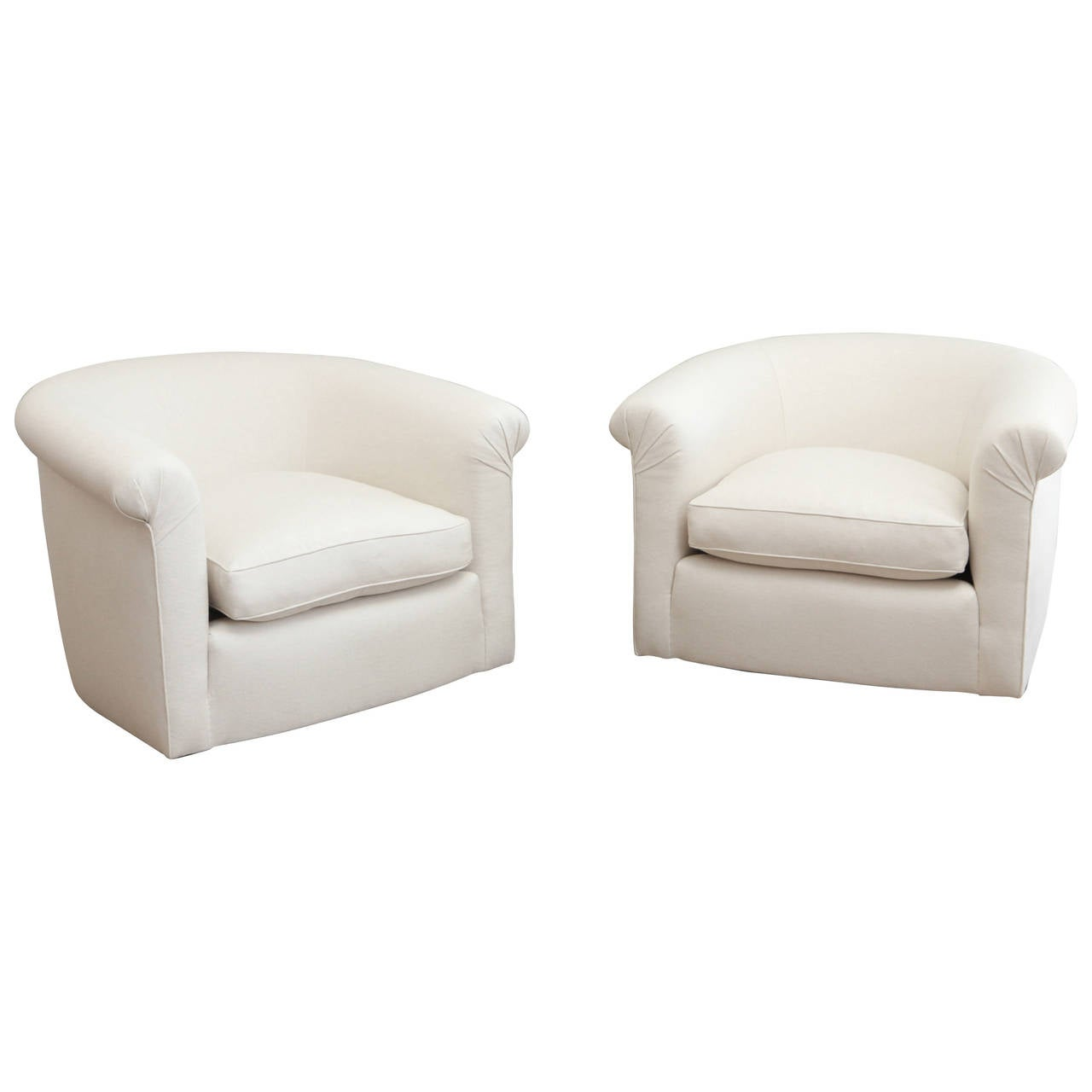 white linen chair tommy bahama beach bjs vintage swivel chairs at 1stdibs