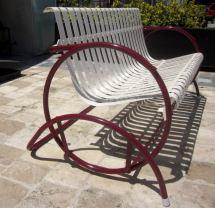Art Deco Glider Patio Seating Set 1stdibs