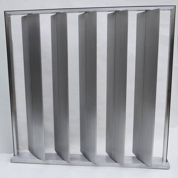 Louvered Metal Room Divider In Manner Of Jean Prouv