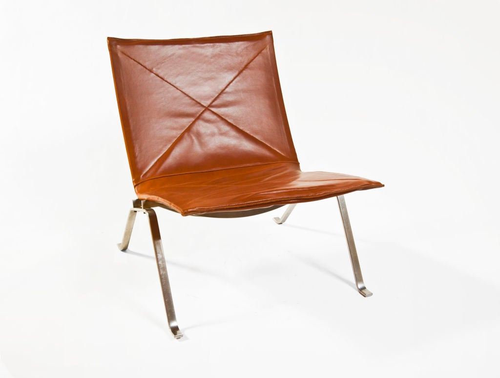 Pk22 Chair Pair Of Pk22 39easy Chair 39 By Poul Kjærholm At 1stdibs